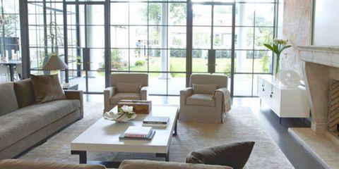 Room, Interior design, Brown, Floor, Living room, Wood, Furniture, Table, Wall, Flooring,