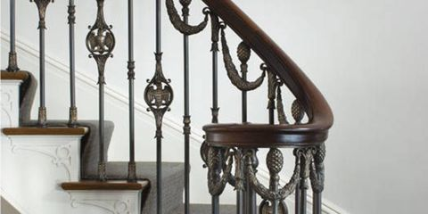 "Custom stair railings are an integral part of our projects. This railing was modeled after one in a historic house in Nashville, but we simplified the design and changed it to include swags, eagles and pineapples. The metalwork by <a href=""http://www.l-m-c.com/"" target=""_blank"">Les Métalliers Champenois</a> is an example of great craftsmanship in bronze. One of their great strengths is dealing with the complex geometry of the swags as they wind down to the final ballister. Each swag needs to be individually modeled and hung differently so it takes incredible skill to make these stair railings work and look graceful. LMC is an absolute standout in this world of fine metalwork. Everything they do is beautiful, from their shop drawings to finished product."