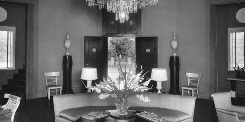 Room, Interior design, Furniture, Living room, Table, White, Monochrome photography, Interior design, Style, Black-and-white,