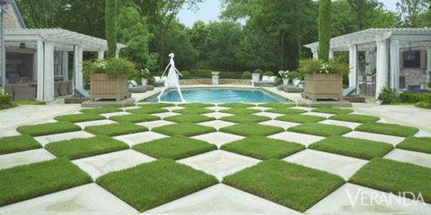 Green, Grass, Property, Garden, Real estate, Lawn, Shrub, Water feature, Yard, Backyard,