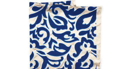 Blue, Pattern, Aqua, Electric blue, Turquoise, Visual arts, Linens, Motif, Creative arts, Cushion,