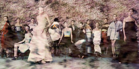 People, Photograph, Art, Visual arts, Painting, One-piece garment, Vintage clothing, Dance, Costume design,
