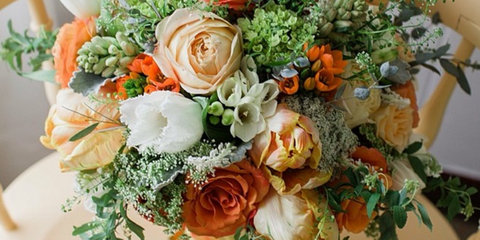 Petal, Bouquet, Flower, Orange, Floristry, Cut flowers, Flowering plant, Rose family, Flower Arranging, Garden roses,