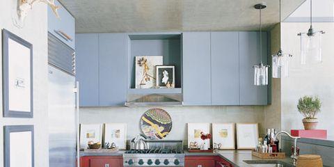 Room, Interior design, Floor, Flooring, Ceiling, Major appliance, Interior design, Drawer, Cabinetry, Countertop,