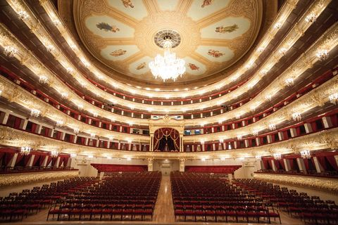 Interior design, Hall, Ceiling, heater, Theatre, Performing arts center, Concert hall, Auditorium, Opera house, Symmetry,