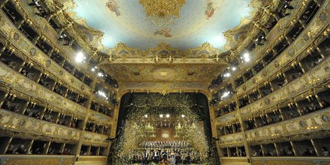 Hall, Ceiling, Space, Symmetry, Concert hall, Theatre, Stage, Performing arts center, heater, Opera house,