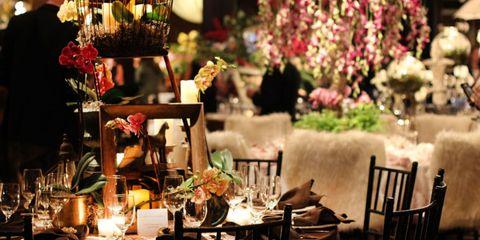 Restaurant, Petal, Centrepiece, Interior design, Decoration, Floristry, Flower Arranging, Home accessories, Function hall, Lighting accessory,