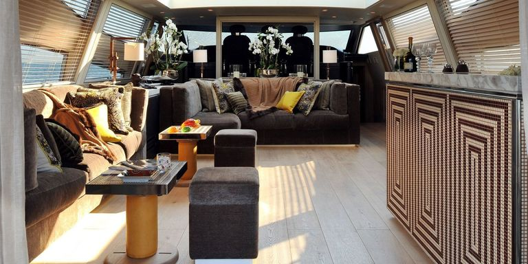 No Overabundance Of Dark Wood And Shiny Surfaces Here These Luxury Yachts Are Beautiful Inside Out