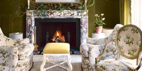 Blue, Green, Interior design, Room, Property, Home, Wall, White, Living room, Floor,