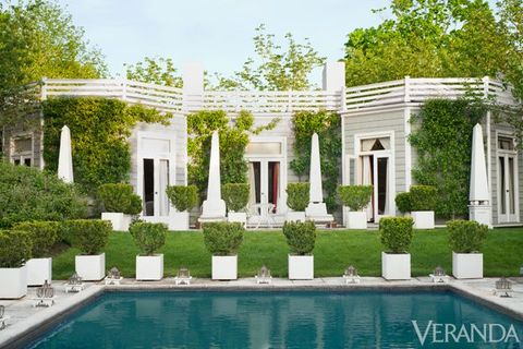 Plant, Property, Real estate, Shrub, Swimming pool, House, Residential area, Villa, Garden, Composite material,