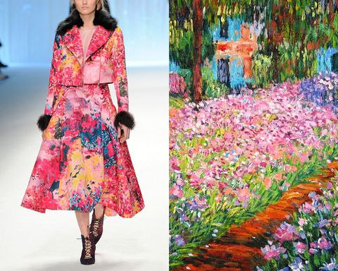 Clothing, Sleeve, Textile, Magenta, Purple, Pink, One-piece garment, Pattern, Dress, Street fashion,