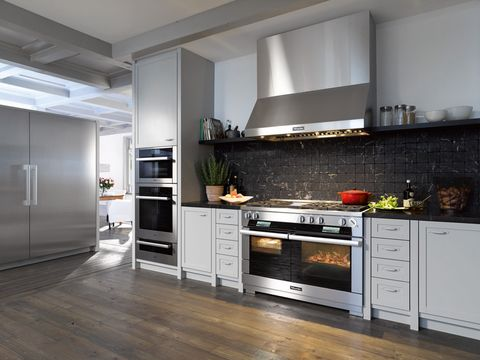 Wood, Floor, Room, Flooring, Property, Interior design, Major appliance, Home, White, Wood flooring,