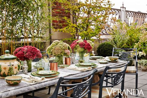 nyc outdoor tablescape
