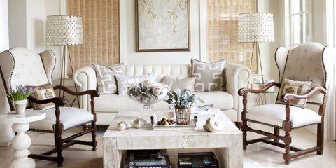 Room, Interior design, Floor, Ceiling fixture, Furniture, Light fixture, White, Ceiling, Home, Table,