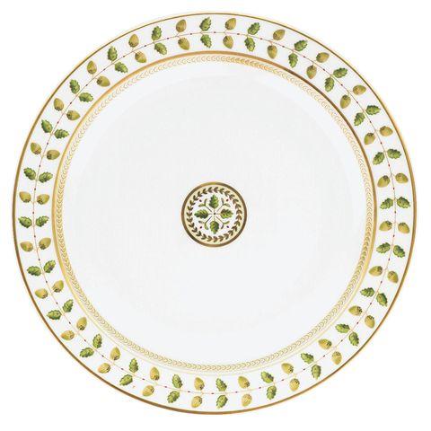 Serveware, Green, Dishware, Pattern, Circle, Porcelain, Ceramic, Motif, Plate, Platter,