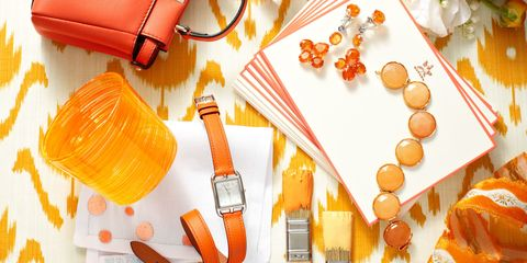 Orange, Amber, Bag, Wallet, Peach, Leather,