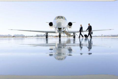 Airplane, Aircraft, Aviation, Reflection, Jet aircraft, Aerospace engineering, Service, Air travel, Aircraft engine, Runway,