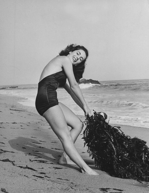 <p>At the beach in June of 1947. </p>