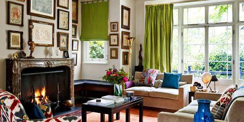 Room, Interior design, Wood, Living room, Table, Hearth, Furniture, Flowerpot, Interior design, Coffee table,