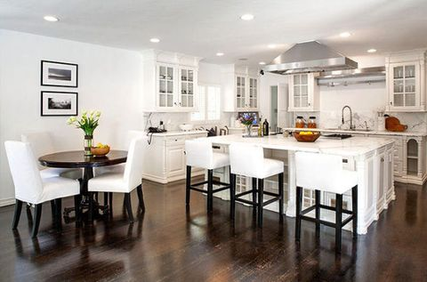 Floor, Room, Interior design, Flooring, Furniture, Table, Home, White, Ceiling, Interior design,