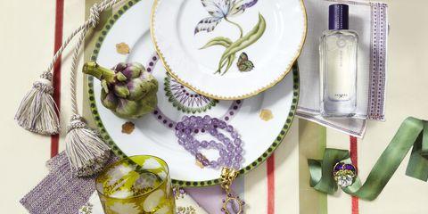 Purple, Lavender, Pink, Serveware, Violet, Dishware, Perfume, Craft, Creative arts, Kitchen utensil,