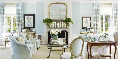 Room, Green, Interior design, Furniture, Home, Living room, Floor, Interior design, Chair, House,