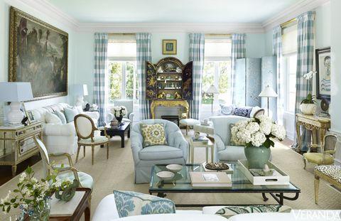 Room, Interior design, Green, Living room, Home, Furniture, Interior design, Table, House, Molding,