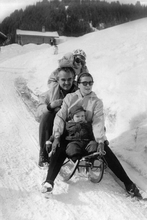 Snow, Toboggan, Sled, Winter, Vehicle, Recreation, Playing in the snow, Fun, Black-and-white, Photography,