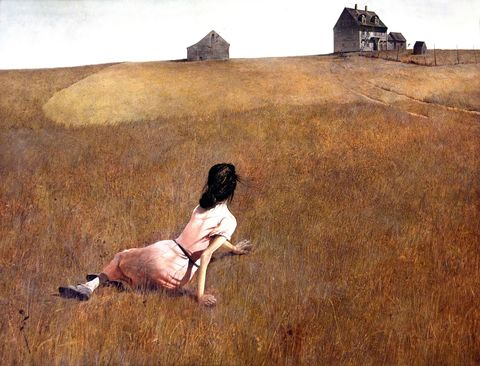 Plain, People in nature, Art, Grassland, Rural area, Field, Prairie, Meadow, Painting, Back,