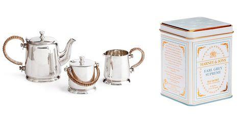 "<p><strong>Ralph Lauren</strong> tea set, $997, <a href=""https://us.amara.com/products/darian-tea-set?utm_source=polyvore%20US&utm_medium=cpc&utm_campaign=teapots&amss=4nb"" target=""_blank"">us.amara.com</a>; <strong>Harney & Sons</strong> Earl Grey Tea, $9, <a href=""https://www.harney.com/earl-grey-supreme-tea.html"" target=""_blank"">harney.com</a>. </p>"