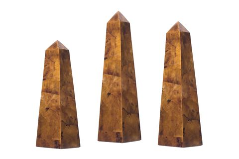 chestnut Amber Pen Shell Obelisks