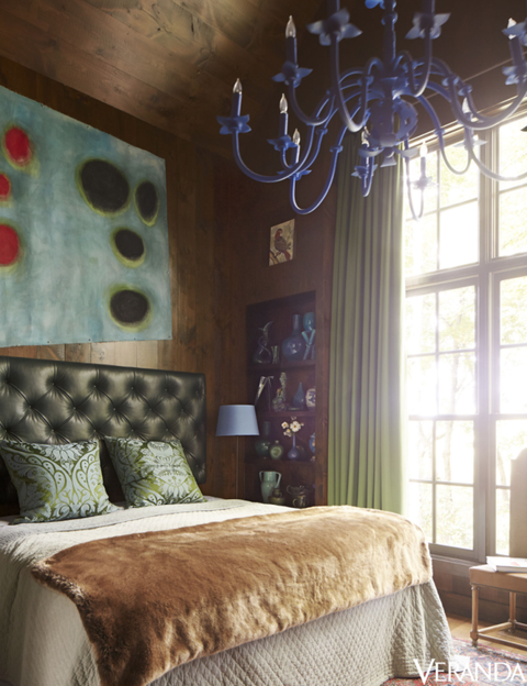 Room, Lighting, Interior design, Bed, Green, Property, Wall, Textile, Bedding, Furniture,