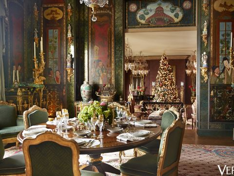 Gold Christmas Decorations Ann And Gordon Getty S San