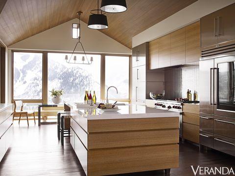 aspen colorado house kitchen