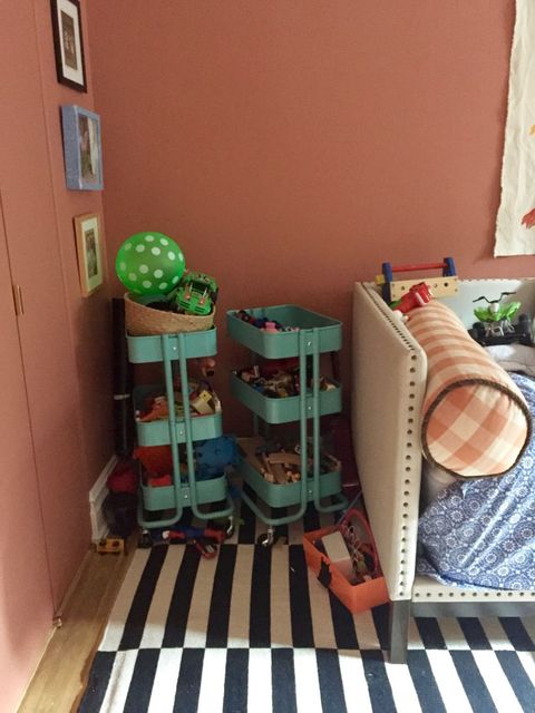 <p>Donelson chose California Closets designerCarolyn Musherto get her kids' closet in fighting shape.  She also called in a  professional organizer to make sure she was getting the most out of the entire space.</p>