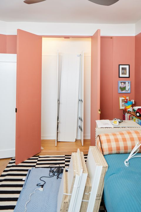 "<p>""Since this closet is being used for children, their needs are going to change,"" Musher said.&nbsp;Donelson added, ""I was encouraged&nbsp;to go with a closet with peg-holes, which means you can change the placement of shelves and hang-bars in the future,&nbsp;and we picked a simple white color since we figured the&nbsp;bins would be plenty colorful.""</p>"