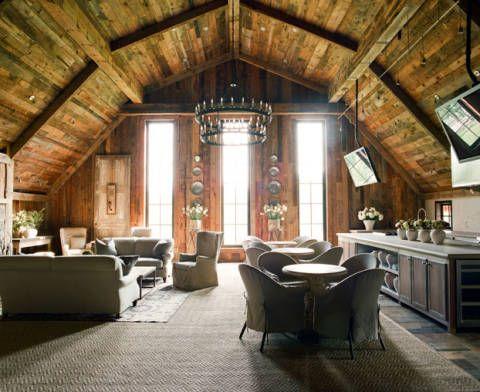 Room, Interior design, Wood, Floor, Ceiling, Furniture, Couch, Beam, Interior design, Flooring,