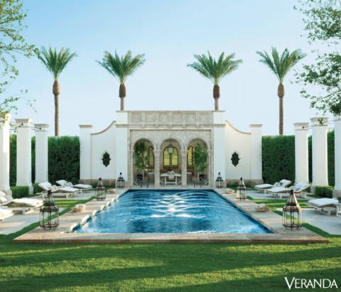 Plant, Property, Real estate, Water feature, Swimming pool, Villa, Garden, Arecales, Courtyard, Palm tree,