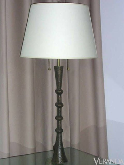 "<p>""Trumpet"" Table Lamp, Carole Gratale ($2,625; <a href=""http://www.carolegratale.com"">CaroleGratale.com</a>)</p>"