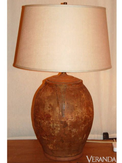 "<p>Terra-cotta Lamp, Bevolo Gas and Electric Lights ($495; <a href=""http://www.bevolo.com"">Bevolo.com</a>)</p>"