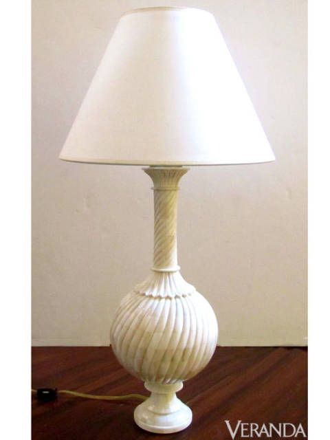 "<p>110 Indian Bone Urn Lamp with Swirl Design, John Rosselli ($1,200; <a href=""http://www.johnrosselli.com"">JohnRosselli.com</a>)</p>"