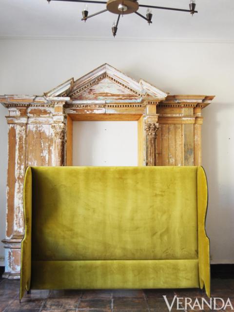 "<p>Ixelles Wing Back Headboard, Casamidy, $2000; <a href=""http://www.Casamidy.com"">casamidy.com</a></p>"