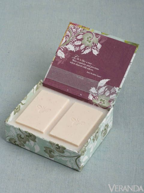 Handcrafted almond soap from M Luxe comes in a charming reusable box, $16.50; available at Boxwoods: 404-233-3400.