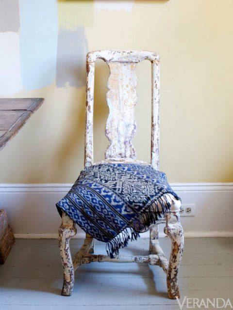 "Swedo-philes have flocked to Ann Koerner in New Orleans for years for her carefully selected stock of antiques like this rustic Rococo side chair. <a href=""http://www.annkoerner.com"">Annkoerner.com</a>."