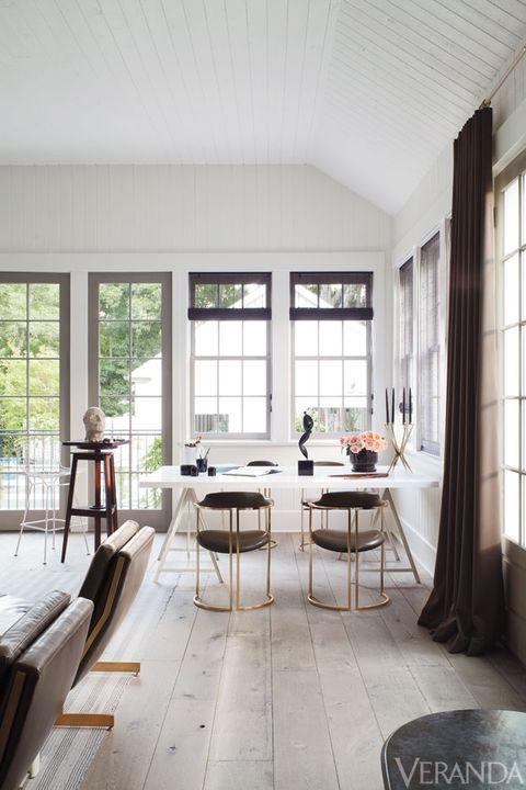 Wood, Interior design, Room, Floor, Window, Flooring, Table, Furniture, Home, Ceiling,
