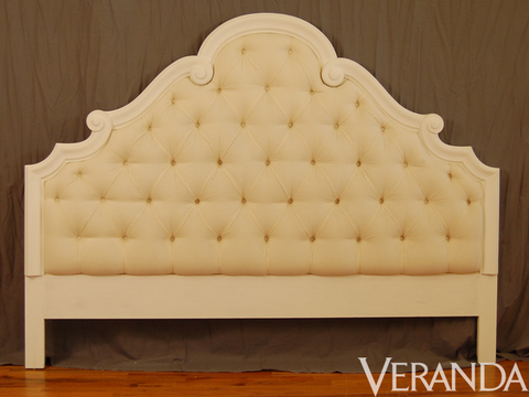 "<p>Venetian Headboard, Jonas, to the trade; <a href=""http://www.Jonasworkroom.com"">jonasworkroom.com</a>, 212-691-2777</p>"