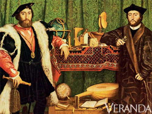 "<p>Turkish carpets, then known as Holbein rugs, were originally used to cover tables and beds, not floors. Evidence can be found in German master Hans Holbein the Younger's 1533 painting ""<a href=""http://www.nationalgallery.org.uk/paintings/hans-holbein-the-younger-the-ambassadors"">The Ambassadors</a>."" See it just behind the subject?</p>"