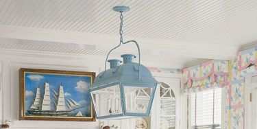 Nautical Motifs And Sailors Valentines Are The Stars Of This Summer House On Cape