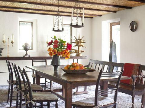 Room, Interior design, Table, Furniture, Ceiling, Light fixture, Interior design, Dining room, Chair, Fixture,