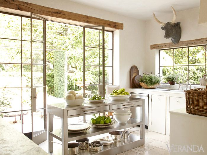 White Interior Design Ideas: French Country kitchen by Pamela Pierce in her Houston Home.